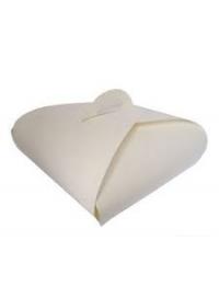Коробка для торта белая картон 15,5*15,5*5,5/100шт.